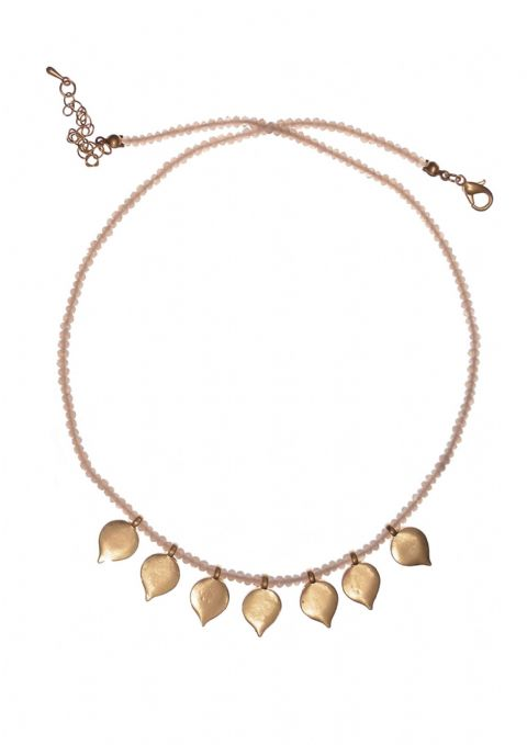 GOLD & PINK PETALS NECKLACE
